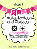 Grade 4 Common Core Math Three Part Lesson Multiplication Division Complete Unit