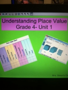 Grade 4 Common Core Math: Understanding Place Value Mimeo Activeboard Activity