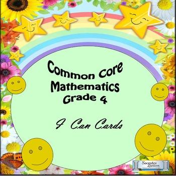 "Grade 4 Common Core Mathematics ""I Can"" Statements"