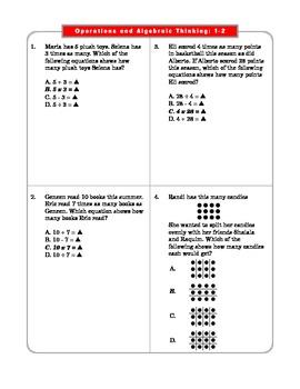 grade  common core math operations  algebraic thinking oaa  grade  common core math operations  algebraic thinking oaa  worksheets