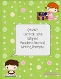 Grade 4 Common Core Reader's Journal Prompts