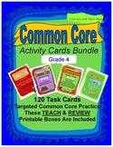 Grade 4 Common Core Reading Activity Cards Bundle
