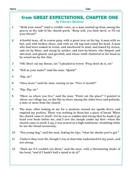 Grade 4 Common Core Reading: Great Expectations Chapter 1