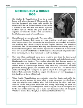 Grade 4 Common Core Reading: Nothing But a Hound Dog