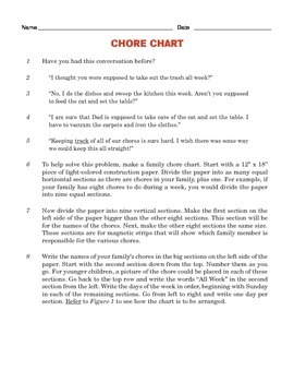 Grade 4 Common Core Reading: Two Texts about Chores
