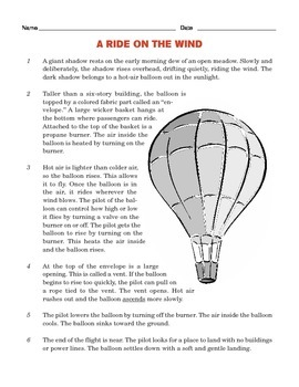 Grade 4 Common Core Reading: Two Texts about Hot Air Balloons