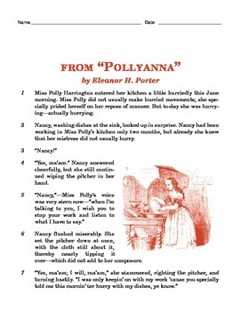 Grade 4 Common Core Reading: excerpt from Pollyanna