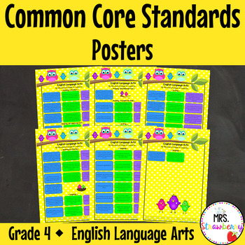 Grade 4 Common Core Standards Posters {English Language Arts} Owl Theme