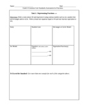 Grade 4 Common Core Standards Assessment for Fraction Concepts