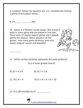Grade 4 Common Core Test and Quiz Pack