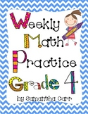 Grade 4 Math Common Core Weekly Practice!