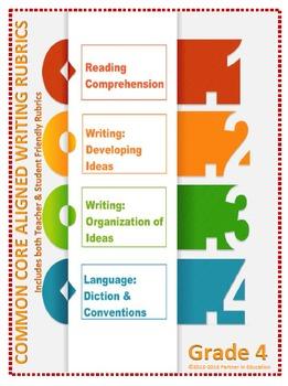 Grade 4: Teacher/Student Friendly Common Core/PARCC Aligned Writing Rubrics