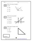 Grade 4 Core Curriculum Math Test - Multiple Choice Format
