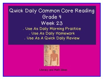 Grade 4 Daily Common Core Reading Practice Week 23