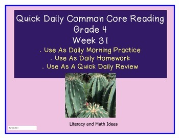 Grade 4 Daily Common Core Reading Practice Week 31