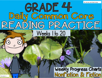 Grade 4 Daily Common Core Reading Practice Weeks 1-20 {LMI}