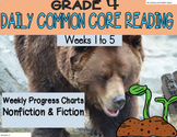 Grade 4 Daily Common Core Reading Practice Weeks 1-5 {LMI}