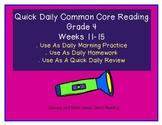 Grade 4 Daily Common Core Reading Practice Weeks 11-15 {LMI}