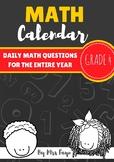 Grade 4 Daily Math Calendar Questions