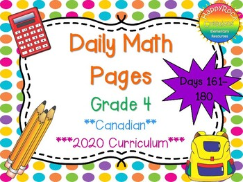 Grade 4 Daily Math Days 161-180
