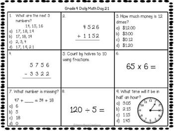 Grade 4 Daily Math Days 21-40