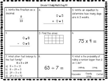 Grade 4 Daily Math Days 41-60