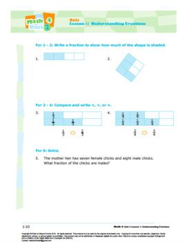 Grade 4: Decimals & Fractions: L1: Understanding Fractions Quiz 4.NF.A.1&2