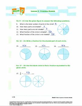 Grade 4: Decimals & Fractions: L2: Fraction Models Worksheet 4.NF.A.1&2