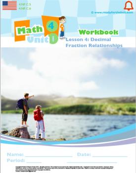 Grade 4:Decimals&Fractions:L4:Decimal Fraction Relationship Worksheet 4.NF.C.5&6