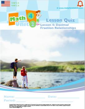 Grade 4: Decimals & Fractions: L4: Decimal Fraction Relationship Quiz 4.NF.C.5&6