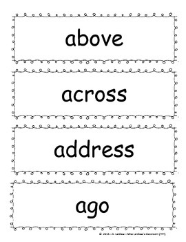 Grade 4 Dolch Sight Words