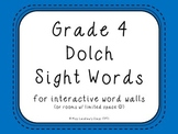 Grade 4 Dolch Sight Words {Bright Blue} - for word walls a
