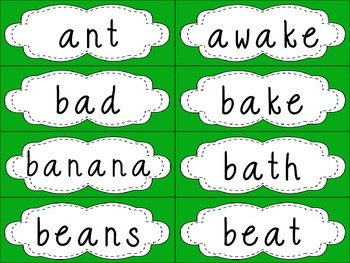Grade 4 Dolch Sight Words {Bright Green} - for word walls and games