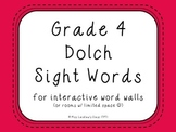 Grade 4 Dolch Sight Words {Dark Pink} - for word walls and games