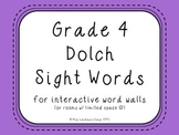 Grade 4 Dolch Sight Words {Purple} - for word walls and games