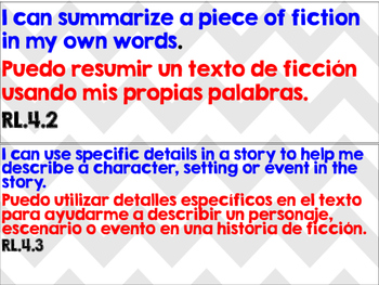 Grade 4 Dual Language I CAN Statements
