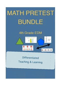 Everyday Math 4th Grade Unit Pretest Bundle