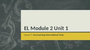 Grade 4 EL Module 2 Unit 1 Lesson 7
