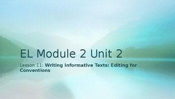 Grade 4 EL Module 2 Unit 2 Lesson 11
