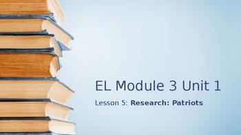 Grade 4 EL Module 3 Unit 1 Lesson 5 powerpoint
