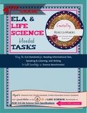 Interactive Science Notebook Grade 4 ELA & LIFE Science Blended Tasks
