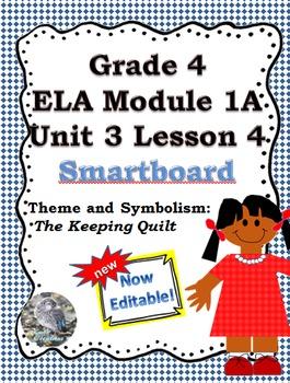 Grade 4 ELA Module 1A Unit 3 Lesson 4  guide for smartboard.. EDITABLE!!