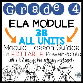 Grade 4 ELA Module 3B All Unit Lessons in PowerPoint!