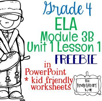 Grade 4 ELA Module 3B Unit 1 Lesson 1 FREEBIE!!