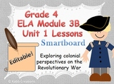 Grade 4 ELA Module 3B Unit 1 Lessons for Smartboard... Editable!
