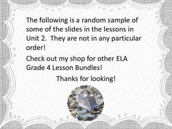 Grade 4 ELA Module 3B Unit 2 Lessons on Powerpoint!
