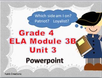 Grade 4 ELA Module 3B Unit 3 Lessons on PowerPoint