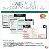 Grade 4 ELA Portfolio Checklists ~ CCSS Overview & Checklists
