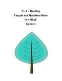 Grade 4 ELA - Reading Question Stems for SBAC