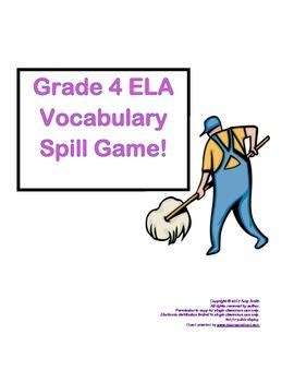 Grade 4 ELA  SPILL! Vocabulary Game
